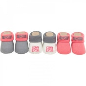 Converse Baby Girls Three Pack Booties Pink/Grey