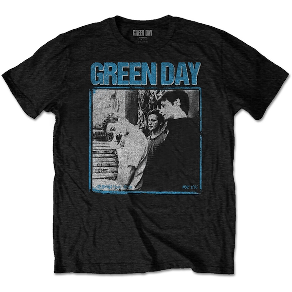 Green Day - Photo Block Men's Large T-Shirt - Black