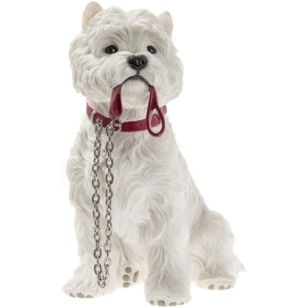 Walkies Westie Dog Sitting Resin Figurine By Lesser & Pavey