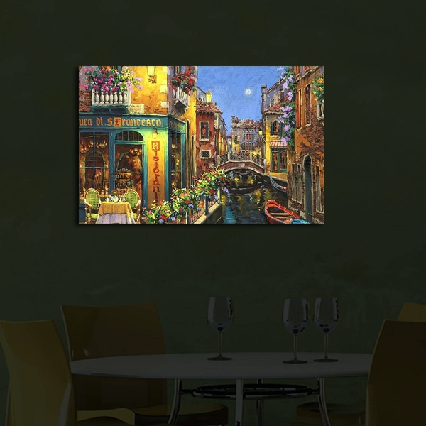 4570?ACT-42 Multicolor Decorative Led Lighted Canvas Painting