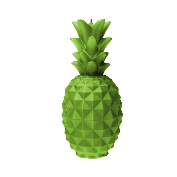 Lime Large Pineapple Candle