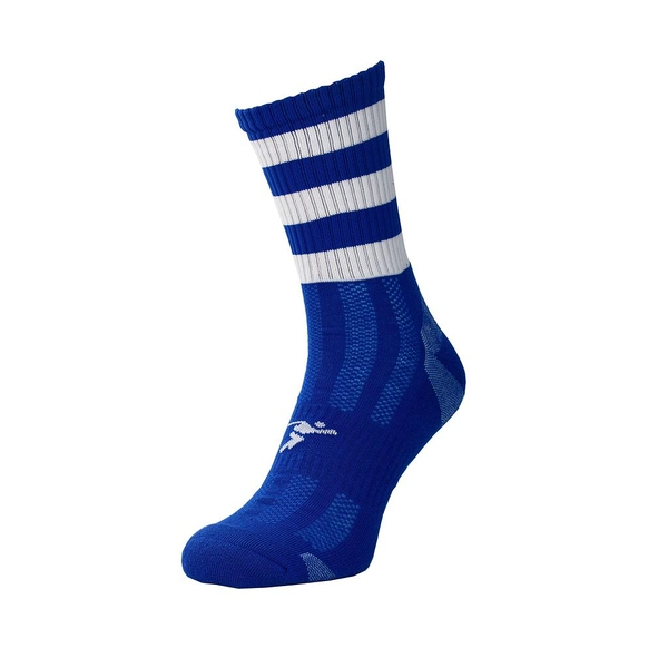 Precision Pro Hooped GAA Mid Socks Junior Royal/White - UK Size 3-6