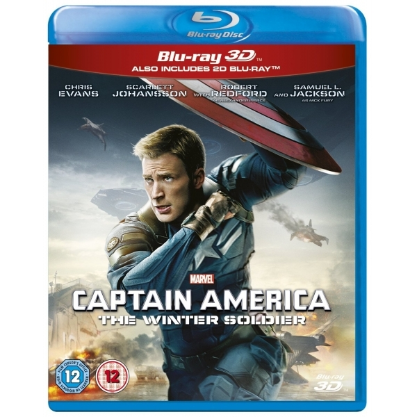 Marvel's Captain America The Winter Soldier 3D Blu Ray