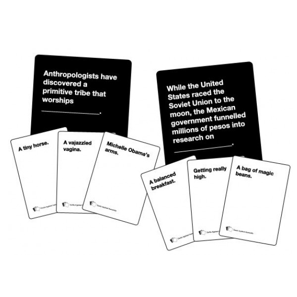 Unusual image within cards against humanity printable expansions