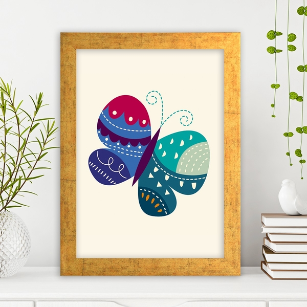 AC41093681213 Multicolor Decorative Framed MDF Painting