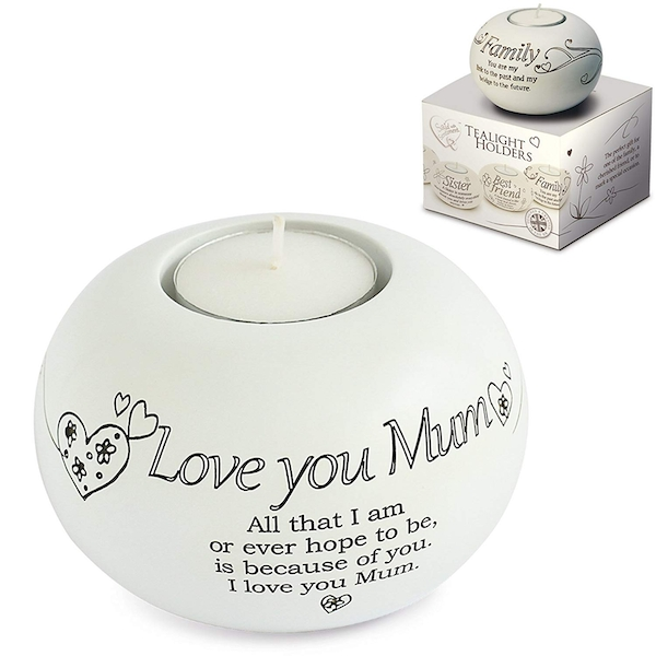 Said with Sentiment Tea Light Holders Love You Mum