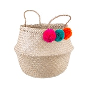 Sass & Belle Summer Pom Pom Basket