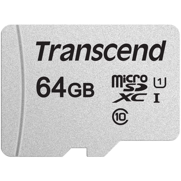 Transcend 64GB Micro SDXC Class 10 UHS-I U1 Flash Card