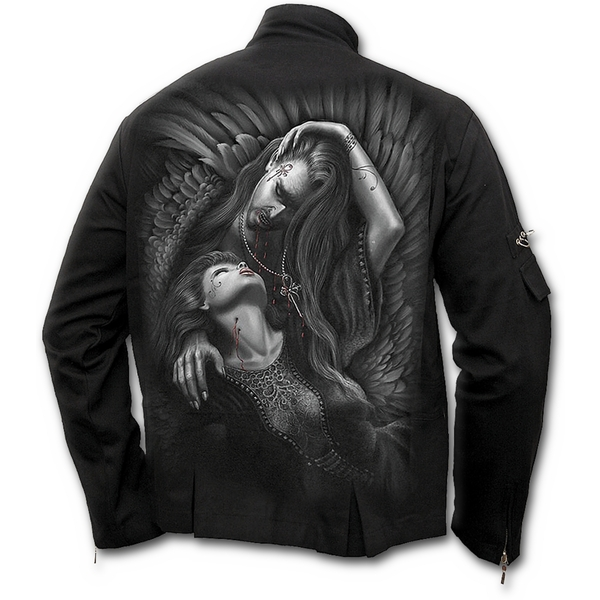 Vampire's Kiss Men's Medium Orient Goth Jacket - Black
