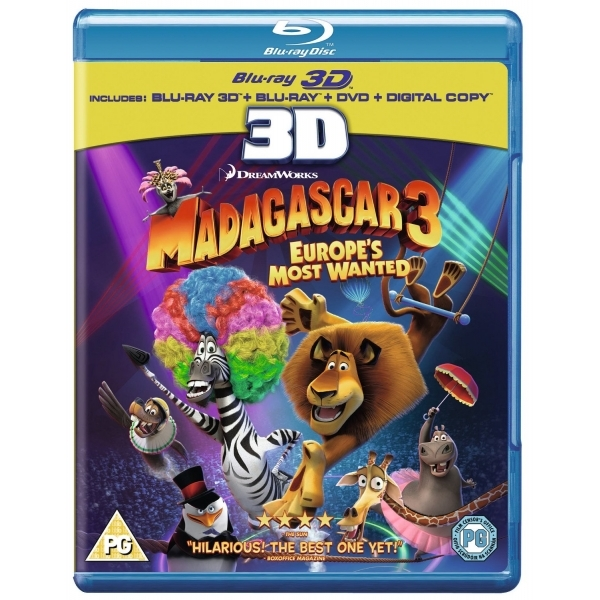 Madagascar 3 Europes Most Wanted 3D Blu-ray + DVD