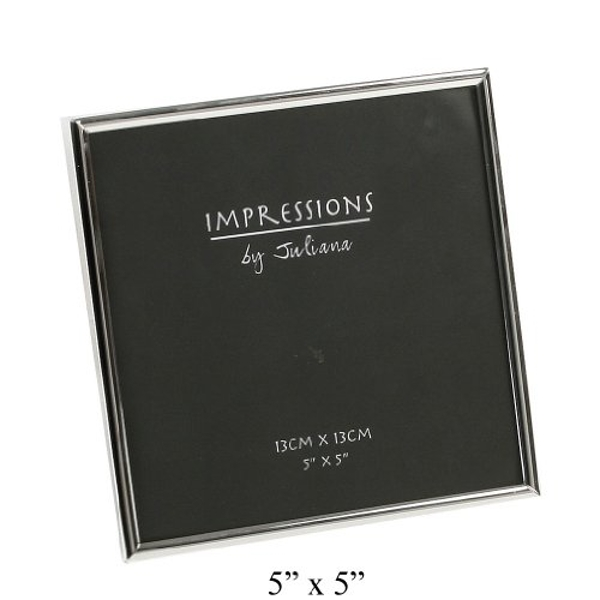 "5"" x 5"" - Impressions Thin Silver Plated Photo Frame"