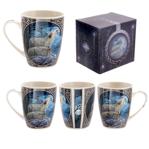 Fantasy Howling Wolf Design New Bone China Mug