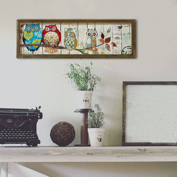 KZM406 Multicolor Decorative Framed MDF Painting
