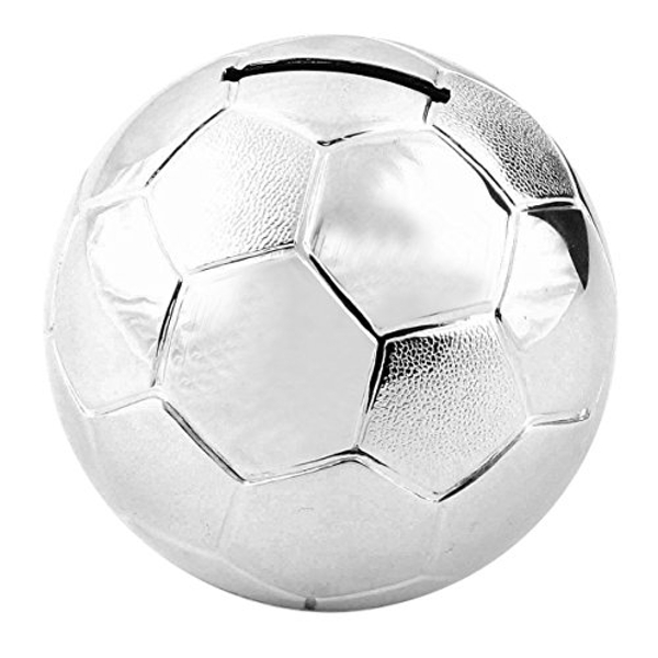 Bambino Silver Plated Football Money Box