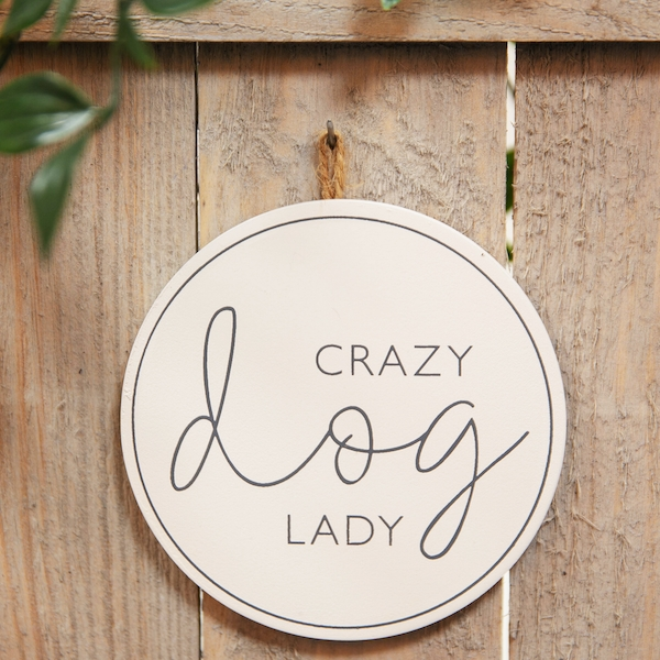 Best of Breed Wooden Plaque - Crazy Dog Lady