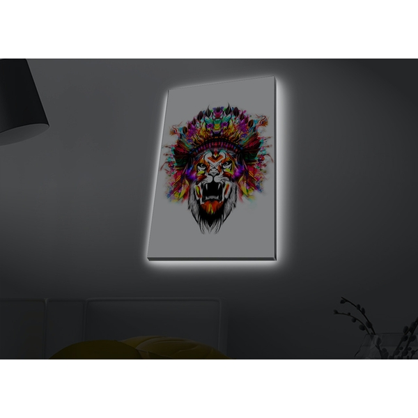 4570MDACT-076 Multicolor Decorative Led Lighted Canvas Painting