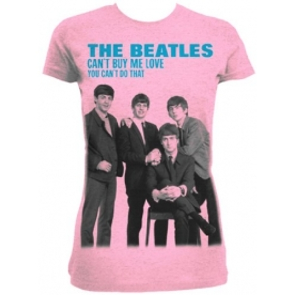The Beatles Cant Buy Me Love Pink Ladies TS: Medium