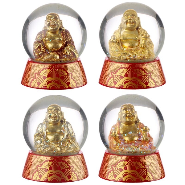 Buddha Waterball (Pack Of 4) Snow Globe