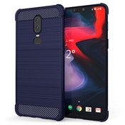 CASEFLEX ONEPLUS 6 CARBON ANTI FALL TPU CASE - BLUE
