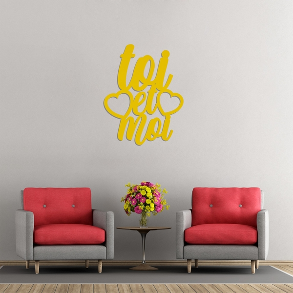 Toietmoi - Yellow Yellow Decorative Wooden Wall Accessory