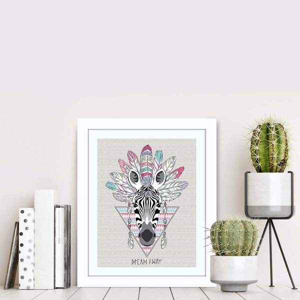 BCT-032 Multicolor Decorative Framed MDF Painting