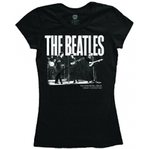 The Beatles Palladium 1963 Ladies Black T Shirt: X Large