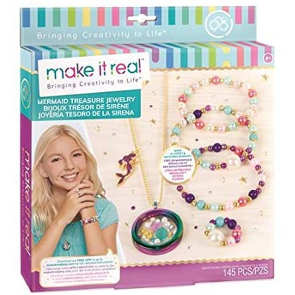 Make It Real - Mermaid Treasure Jewellery Activity Set