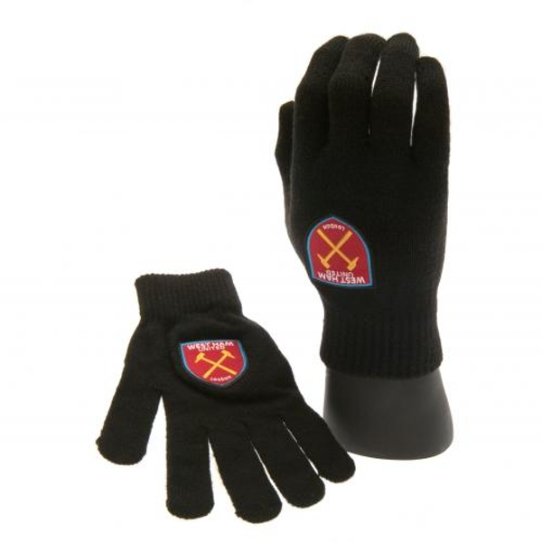 West Ham United FC Knitted Junior Gloves