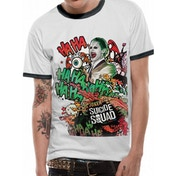 Suicide Squad - Grafitti Joker Men's X-Large T-Shirt - White