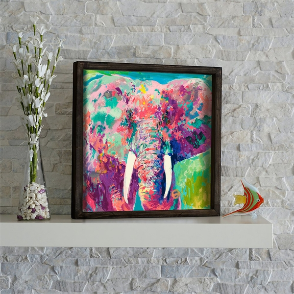 KZM548 Multicolor Decorative Framed MDF Painting
