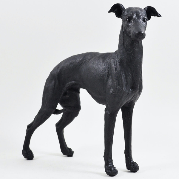 Large Greyhound Standing Up Cold Cast Bronze Sculpture 21cm