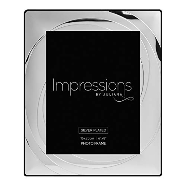 """6"""" x 8"""" - Impressions Silver Plated Photo Frame with Swirl"""