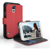 YouSave Accessories Samsung Galaxy S5 Leather-Effect Stand Case - Pink