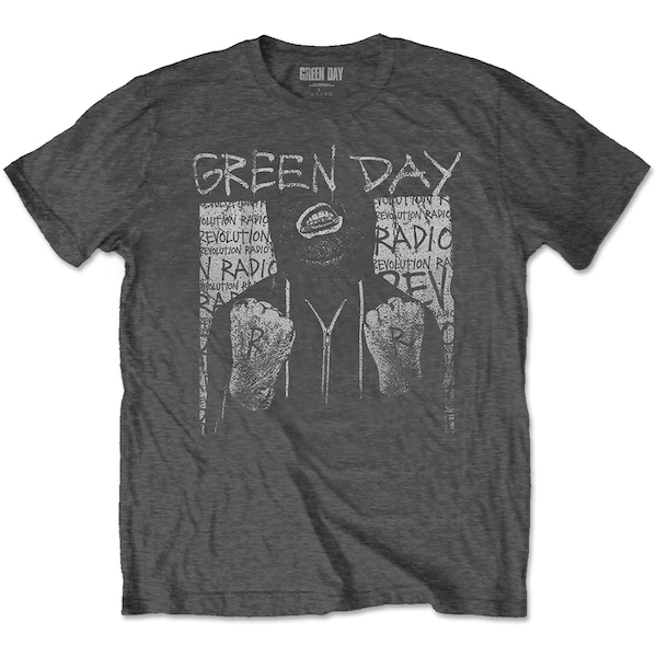 Green Day - Ski Mask Men's Large T-Shirt - Charcoal Grey