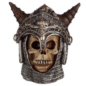 Gothic Skull in Medieval Horned Helmet (Pack Of 4) Ornament
