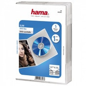 Hama Slim DVD Jewel Case Pack of 5 Transparent
