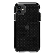 Tech21 Protective Apple iPhone 11 Case Thin Patterned Back Cover with FlexShock - Evo Check - Smokey/Black