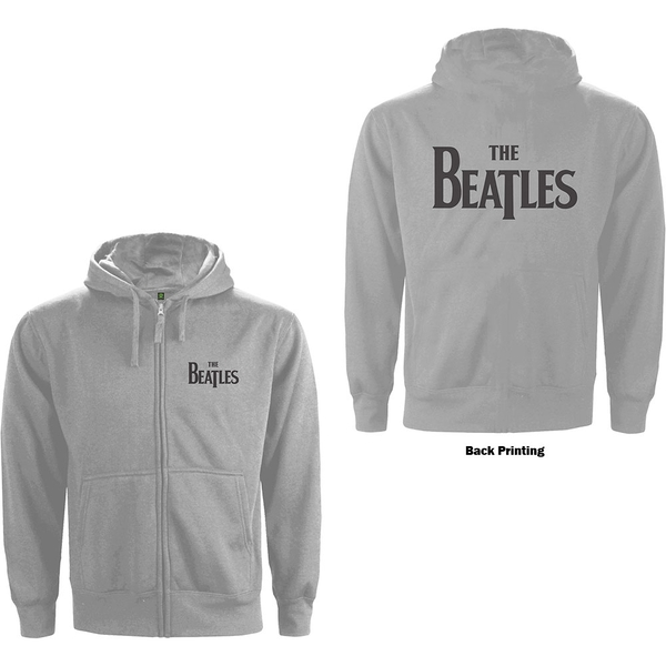 The Beatles - Drop T Logo Unisex X-Large Hoodie - Grey
