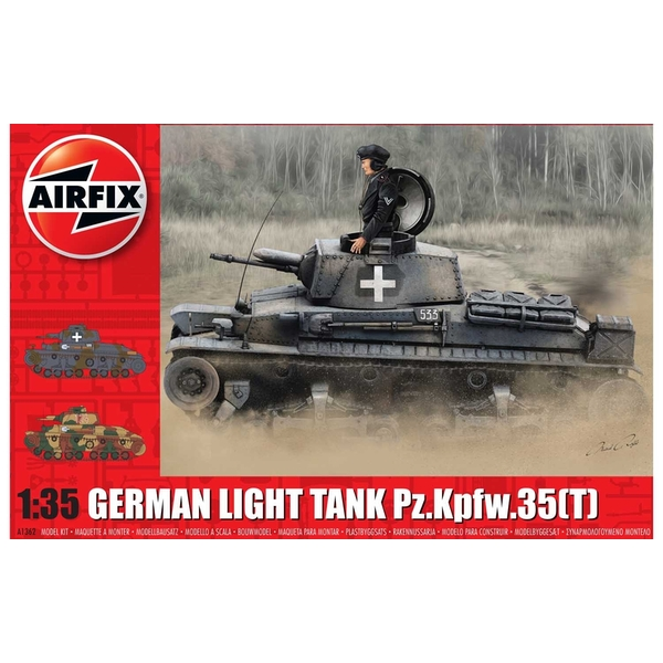 German Light Tank Pz.Kpfw.35 (t) 1:35 Tank Air Fix Model Kit