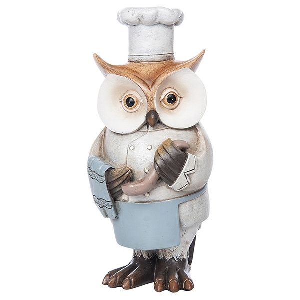 Working Owl Chef Ornament