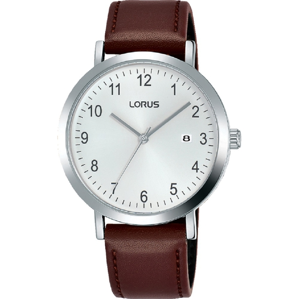 Lorus RH937JX9 Mens Dress Watch with Sunray White Dial & Clear Arabic Numerals