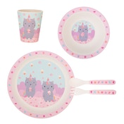 Sass & Belle Luna Caticorn Bamboo Tableware Set