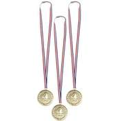 No 1 Birthday Medals (Pack Of 3)