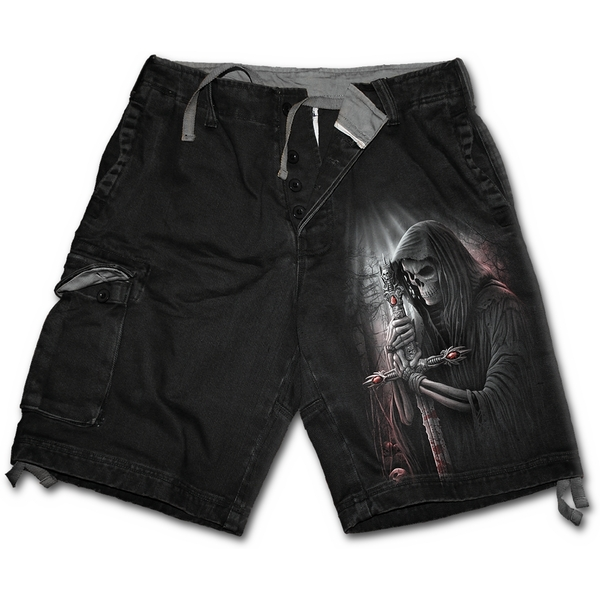 Soul Searcher Men's XX-Large Vintage Cargo Shorts - Black - Image 1
