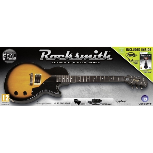 Rocksmith and Epiphone Les Paul Guitar Game Xbox 360
