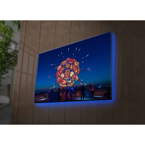 4570DACTBURN-011 Multicolor Decorative Led Lighted Canvas Painting