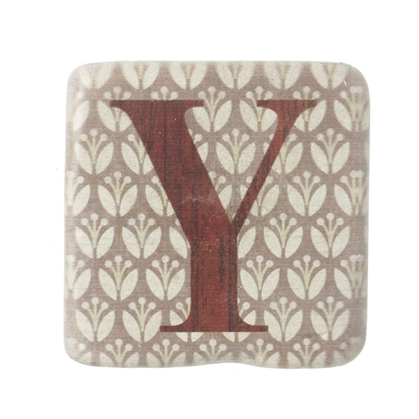 Letter Y Coasters By Heaven Sends