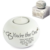 Said with Sentiment Tea Light Holders You're The One