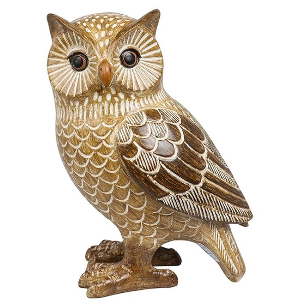 Country Brown Owl Right Ornament