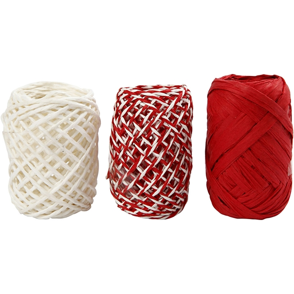 Paper Cord Red/White Harmony 10 Piece
